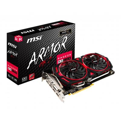 PLACA VIDEO VGA PCI-E 8GB RX580 ARMOR MK2 8G OC MSI